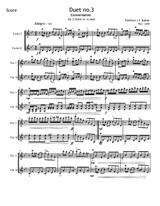 Duet for 2 violins, composed by Peshraw J S Baban