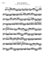 Moto perpetuo for flute and string orchestra – Flute part
